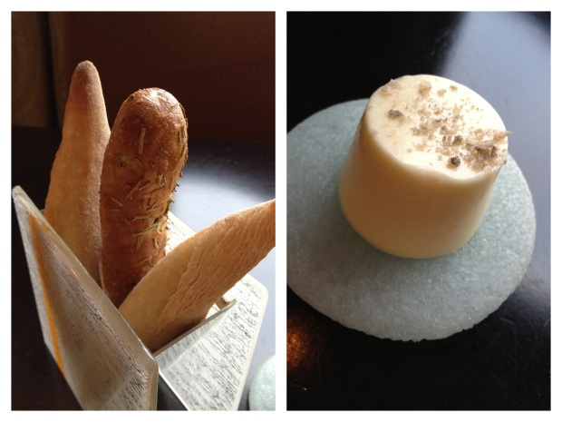Housemade french bread and rosemary bread, served with gray sea salt butter