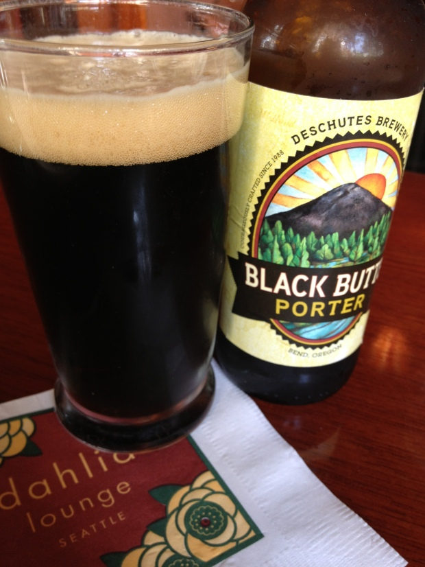 Always start with a drink, especially if it's a delicious Deschutes Brewery Porter!