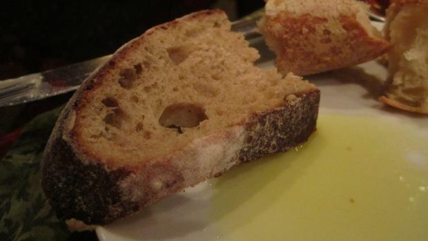 ...then dragged her bread into it.  It's her Italian side!