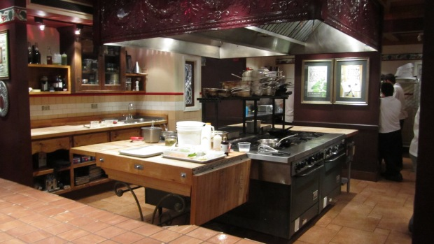 Even the kitchen was cleaned and empty when we left